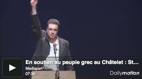 Soirée Mediapart au Théâtre du Châtelet en soutien au peuple grec