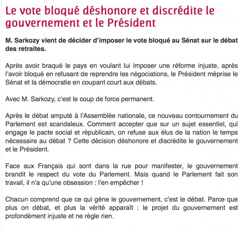 vote bloqué